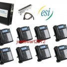 ESI S-CLASS PHONE SYSTEM W/ (8) 48 KEY H DFP PHONES VOICE MAIL CALLER ID