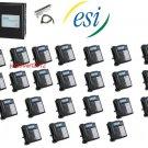 ESI 50 CLASS PHONE SYSTEM W/ (24) 48 KEY H DFP PHONES VOICE MAIL CALLER ID