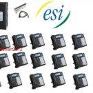 ESI 50 CLASS PHONE SYSTEM W/ (20) 48 KEY H DFP PHONES VOICE MAIL CALLER ID