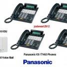 PANASONIC KX-TD816 KSU 4X8 WITH (4) KX-T7453 PHONES INCLUDES VOICE MAIL