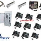 NORTEL NORSTAR MICS 8X32 PHONE SYSTEM (1) M7324 PHONE (14) M7310 PHONES CID