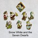 Disney SNOW WHITE & the 7 Dwarfs 8 Pin Set - HM LE