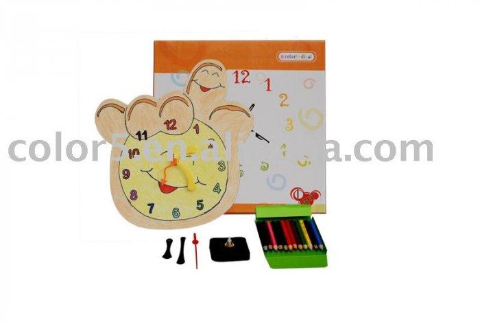 Children clock; Paper clock; Toy clock (DIY-C002)