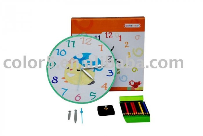 Children clock; Paper clock; Toy clock(DIY-C011)