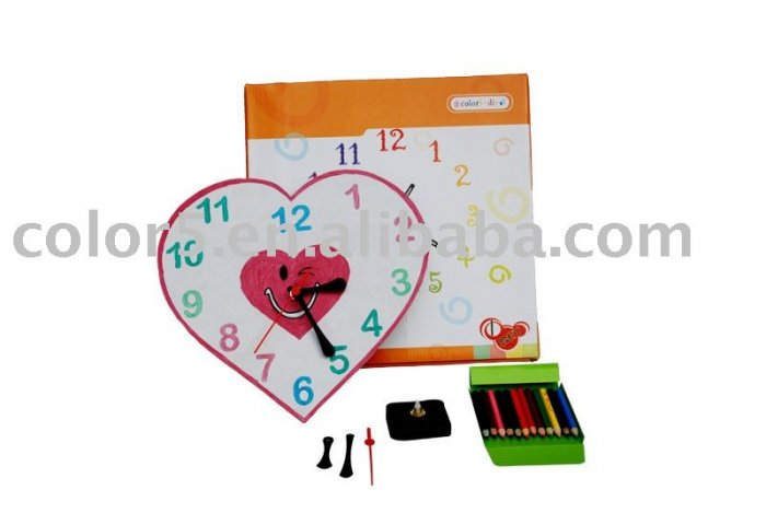 Children clock; Paper clock; Toy clock(DIY-C005)
