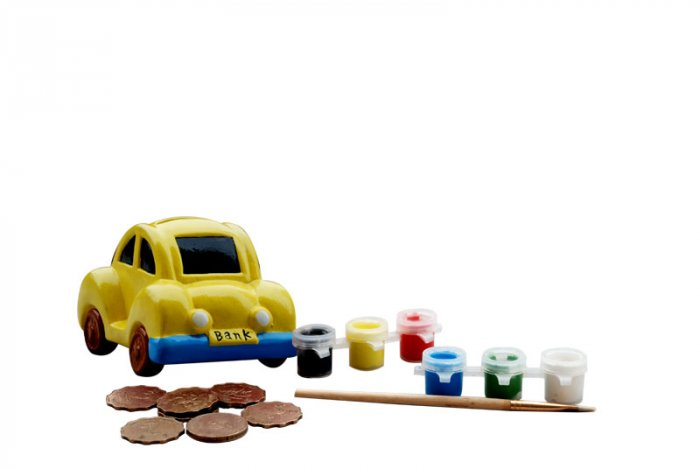 Coin bank;car paint bank;education toy(DIY-PB-CR)
