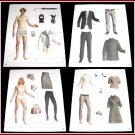 KATE MOSS & PETE DOHERTY Magazine Paper Dolls 4 PAGES