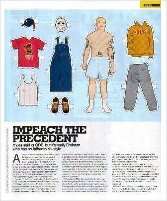 EMINEM Magazine Paper Dolls & Article