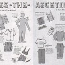 DRESS-THE-ASCETIC Unusual Canadian Magazine Paper Dolls 2 PAGES