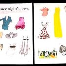 A MIDSUMMER NIGHT&#39;S DRESS Magazine Paper Dolls 2 BIG PAGES