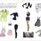 OPPOSITES ATTRACT Magazine Paper Dolls 2 BIG PAGES