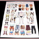 CREATE YOUR OWN WRESTLING SUPERSTAR Large Fold-Out Poster Magazine Paper Dolls