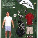 GEAR UP Magazine Ad Paper Dolls GOLFER & ACCESSORIES