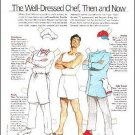 THE WELL-DRESSED CHEF THEN & NOW Magazine Paper Dolls