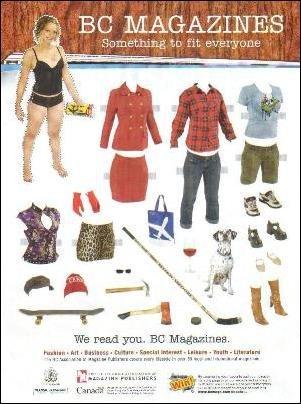 BC MAGAZINES Canadian Magazine Ad Paper Dolls