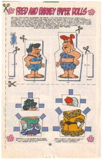 FRED FLINTSTONE & BARNEY RUBBLE Comic Book Paper Dolls