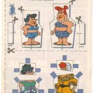 FRED FLINTSTONE & BARNEY RUBBLE Comic Book Paper Dolls