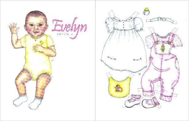 EVELYN Magazine Paper Dolls 2 PAGES