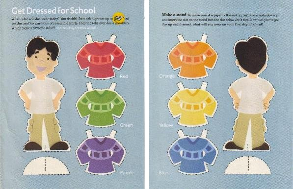 GET DRESSED FOR SCHOOL Double-Sided Magazine Paper Dolls