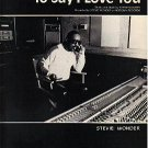 I Just Called To Say I Love You STEVIE WONDER Sheet Music 1984