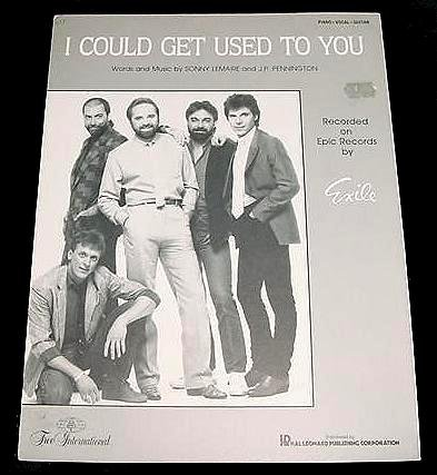 I Could Get Used To You EXILE Sheet Music 1986