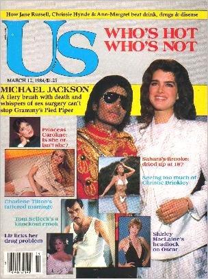 US March 12, 1984 MICHAEL JACKSON & BROOKE SHIELDS