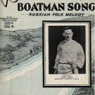 Volga Boatman Song RUSSIAN FOLK MELODY Sheet Music 1935