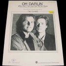 Oh Darlin' THE O'KANES Sheet Music 1986