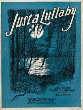 JUST A LULLABY Sheet Music 1923 Barbelle Cover Art