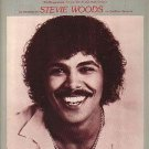 Steal The Night STEVIE WOODS Sheet Music 1981 PHOTO