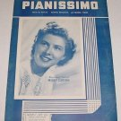 Pianissimo MINDY CARSON Sheet Music COVER PHOTO 1947
