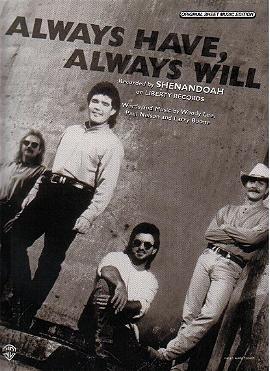 Always Have, Always Will SHENANDOAH Sheet Music PHOTO