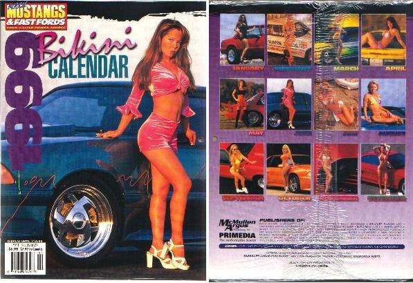 Muscle Mustangs & Fast Fords 1999 Bikini Calendar NEW & UNOPENED
