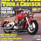 MOTORCYCLE TOUR & CRUISER MAGAZINE 9/01 Suzuki Volusia
