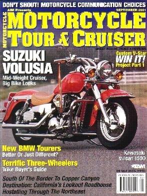 MOTORCYCLE TOUR & CRUISER MAGAZINE 9/01 Suzuki Volusia