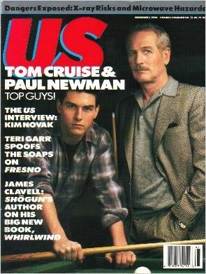 US MAGAZINE December 1, 1986 Tom Cruise KIM NOVAK Paul Newman