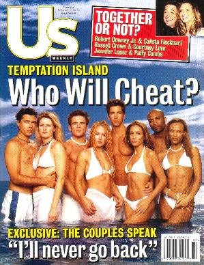 US Weekly February 12, 2001 TEMPTATION ISLAND Willem Dafoe
