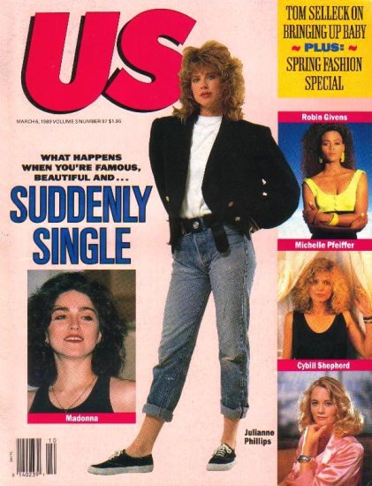 US Magazine March 6, 1989 Tom Selleck MADONNA PENN BREAKUP Jasmine Guy