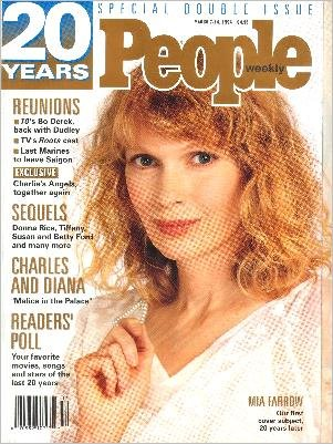 People Weekly Magazine 20-Years Double Issue March 7, 1994 Mia Farrow.