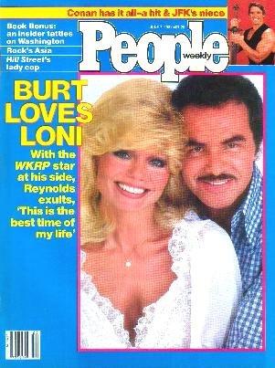 People Weekly Magazine June 7, 1982 LONI ANDERSON Burt Reynolds