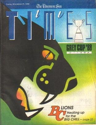 TV Times November 25.1988 BC Lions GREY CUP Mary Tyler Moore