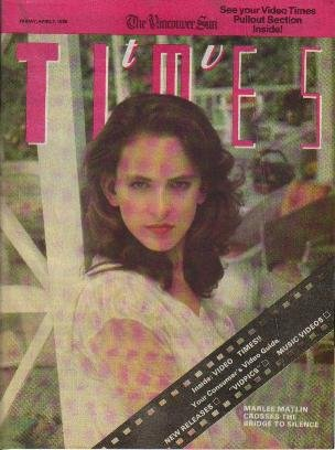 TV Times April 7, 1989 MARLEE MATLIN Avery Brooks