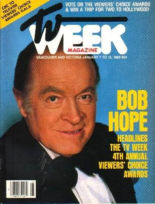 TV WEEK January 7, 1989 BOB HOPE Mel Zajac Foundation