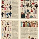 Miniature Reprinted Antique Paper Dolls & Article 7 PAGES