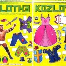 CLOTHE (VLADIMIR) KOZLOV Magazine Paper Dolls 2pp