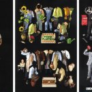 ESPN NFL COUNTDOWN 2007 Magazine Sticker Paper Dolls