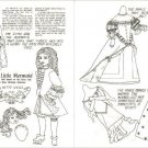 LITTLE MERMAID Magazine Paper Dolls BETTE WELLS 1981