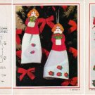 CHRISTMAS DOLL ORNAMENT Magazine Paper Doll w/ Instructions