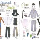 BOYFRIEND SHOPPING Magazine Paper Dolls 2 PAGES
