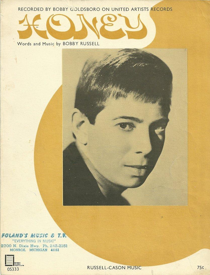 HONEY Bobby Goldsboro Sheet Music 1968